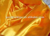 Tejido de saten de oro color para cinturones