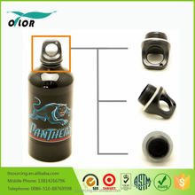 Good price best quality aluminum black water bottle with a panther logo