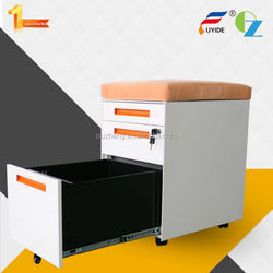 Luoyang factory direct sale 3 drawers office chair pedestal cabinet with Anti-tilt locking mechanism and pencil tray