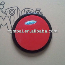 Hot selling! high quality 6'' Rubber Practice drum pad