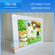 Promotion preferred 800*600 photo digital frame 12 inch