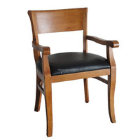 Leisure Solid Wood Dining Chair With Arms