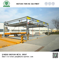 simple valet mechanical hydraulic stacker parking car lift, smart parking system