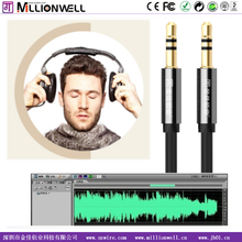 Millionwell metal shell audio video cable DC3.5MM,audio 2.5mm male to male, AV cable