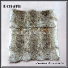 Natural rabbit fur plate
