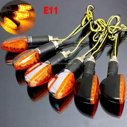 2x E-mark 12V Universal Motorcycle 14LED Turn Signal Indicator Light Bulb Amber High Quality