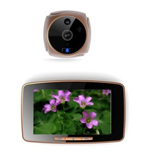 "GSM peephole door viewer with 5"" touch panel/MMS alarm/mobile intercom/record photo and video"
