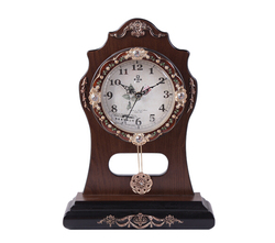 Factory direct top selling white display wooden table clock with low priceGBD-1071P