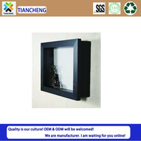 Popular wall art 3d square shadow box frame 3x3 designs