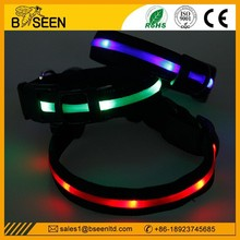 2015 new products road safety led glow pet collar and leash