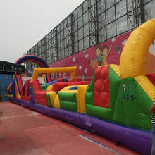 2015 inflatable water obstacle course on top selling