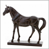 Chinese Black Metal Bronze Large Horse Sculpture Statue for Sale
