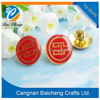 2015 custom made polica badges/polics metal badge/badge design polida with round shapes and red color in popular sale