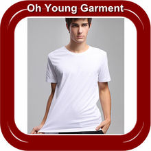 Customed Hot product cheap price Low MOQ slim fit plain white t-shirt