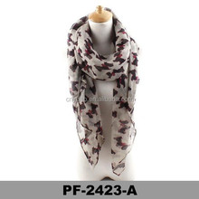 Latest design high quality and cheap ladies viscose lovely printing scarf