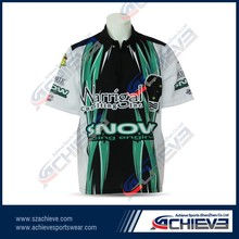 custom printing poly breathable motor /auto racing shirt team jerseys wear