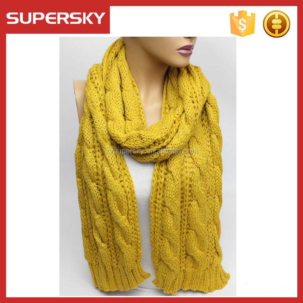 A-52 Infinity Cable Knitting Chunky Scarf Cable Scarf Knitting Pattern Cable ...