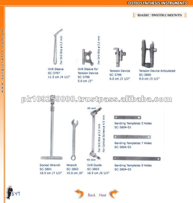 Básica instrumentos, Osteosynthesis instrumentos