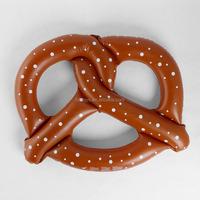Plastic inflatable pretzel swimming buoy