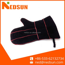 High quality leather grill gloves for barbecue