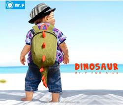 Children Outdoor High Quality Waterproof Dinosaur Backpack/Travel Bag/Beach Bag