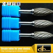 OEM durable double cut taper radius end carbide burrs
