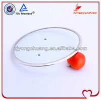 yongchuang T type universal glass pan cover lid for cookware