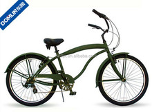 hot sale 26 inch 7 speed army green color beach cruiser bicycle made in China
