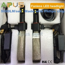 H4 Newest Fanless 5000LM auto headlight led car headlight