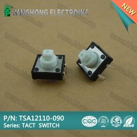 TSA12110-090 Tact Switch with new height of 9mm,tactile switch, Momentary Tactile Tact Push Button Switch + Cap