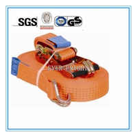 50mm Ratchet Tie Down Strap , Lashing Strap for Cargo Securing