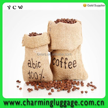 jute packing bags for coffee/durable jute bag for coffee bean