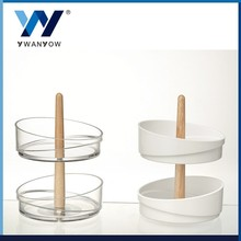 High Quality clear acrylic crystal tiered wedding cake stand