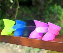 Fashion Colorful silicone pet dog rain boots