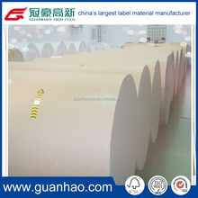 Top coated hot Melt Adhesive label material for shipping label