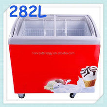 small glass lid curved top glass door chest deep freezer small ice cream freezer