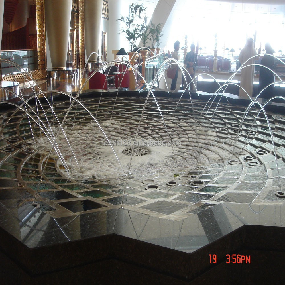 Modern art decorate water jet fountain nozzles indoor