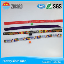 nfc printed /debossed /embossed custom woven nylon wristband for events rfid wristband