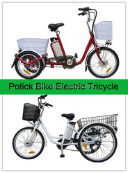 24' tire adult tricycles electric / electric bike with three wheels