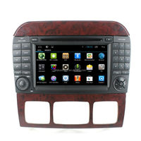Built-in 3G Wifi Quad Core Cortex A9 Android 4.4 Touch Screen Support MP3 MP5 Player For Mercedes S-W220 Car Audio DVD