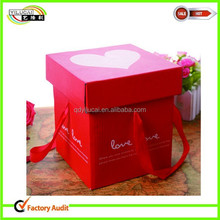 red heart base and lid storage paper box hot sale !!!