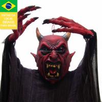 Drop shipping from Brazil 2015 PP halloween toy sound devil doll vs plush toy devil 12614