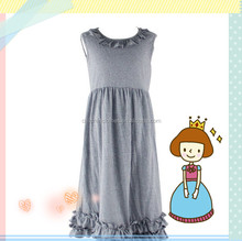 2015 Good Baby Child Products Kids Beautiful Model Dress Cotton Kids Girls Frocks