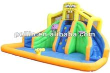 2012 marvelous inflatable spongebob water slide with double slides