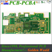 China professional fr4 double-sided pcb with 1.6mm thickness 2 layer round led light pcb