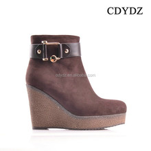 CDYDZ Y28 Brown matte leather high-heeled buckle thick crust side zipper Women winter Boots 2015 fashion dress factory china