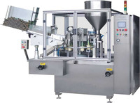 Full automatic rotary table composite /plastic tube filling &sealing machine