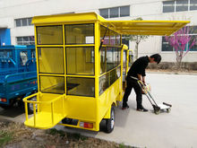 electric tricycle for mobile fast -food shop