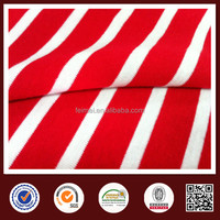 China yarn dyed fabric red white stripe fabric cotton blue and white striped