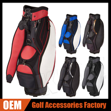 Synthetic Leather Golf Staff Bags Customized Your Team / Club Logo